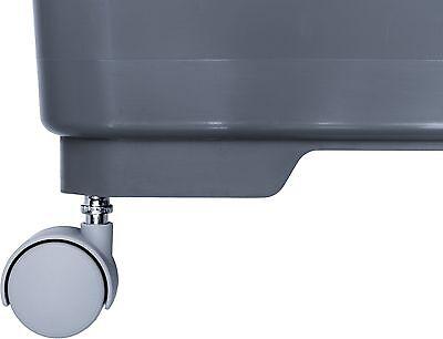 LEWI Eimer 22 Liter Grau Rechteckeimer für Glasreinigung passend für Unger Ninja 2