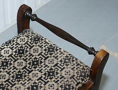 Victorian Mahogany Piano Stool Bauhaus Upholstery Internal Music Storage Drawer 6
