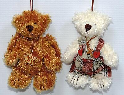 Miniature Teddy Bear Ornaments - 12 pc. Assorted Set 7