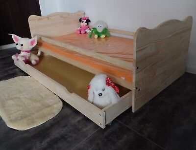 Babybett Gitterbett 140x70 Schublade Kinderbett Komplet Set MASSIV Umbaubar NEU