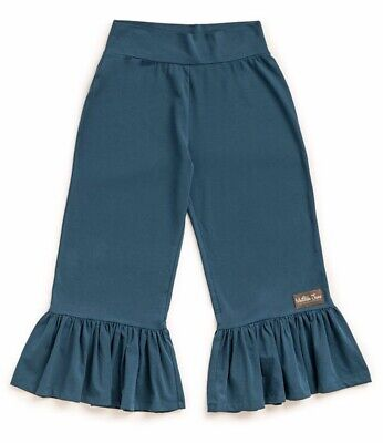 Matilda Jane ALPHA Big Ruffles Small S Cropped Capris Teal Blue Women's NWT 3