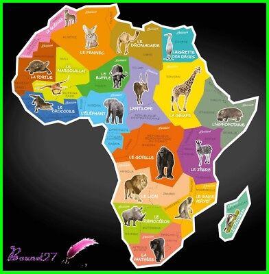 Carte Afrique Brossard.Aimant Magnet Brossard Savane Les Pays En Afrique Asie Et Europe Animaux Monde