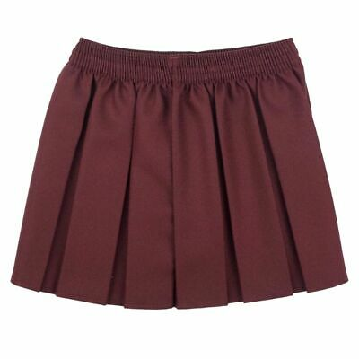 New Girls School Skirts Box Pleated Elasticated Waist Skirt Kids School Uniform 6