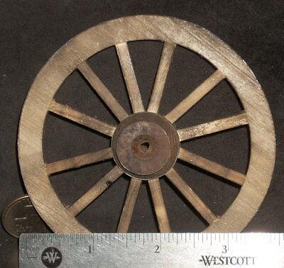 "3/"" Mexican Hand Made #WO1925 Approx Dollhouse Miniature Wagon Wheel 2"