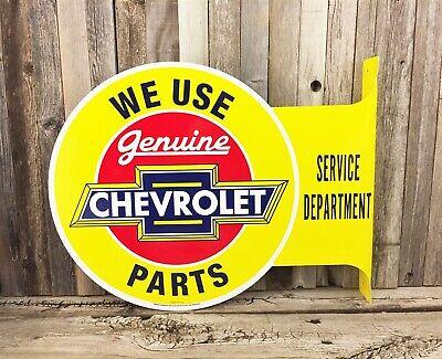 "Chevrolet Chevy 14/"" Metal Calendar Tin Sign Vintage Truck Garage Man Cave New"