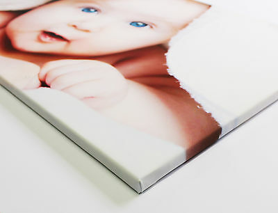 "CANVAS PRINT 16"" x 20"" A2 Personalised Your PHOTO/PICTURE on 18mm Frame 280gsm 3"