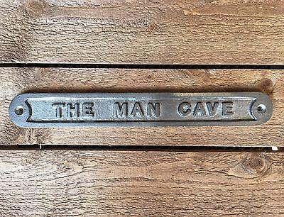 'the Man Cave' Door Sign Shed Garage Vintage Solid Cast Metal Dad Gift - 99319 5