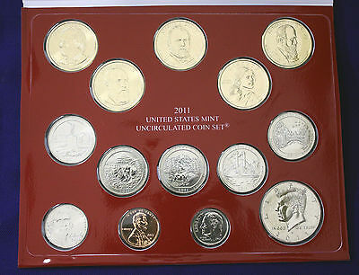 """2011 U.S. Mint Set. Complete and Original. 28 coins 14 each from """"P"""" and """"D"""" 4"""