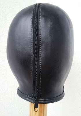 100 % Ledermaske, schwarz, handgefertigt. 100 % Leather Mask, handmade, black 6