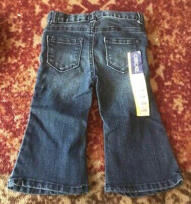 Wonder Kids Baby//Toddler Girls Ribbon Pocket Bootcut Denim Fleece Lined Pants