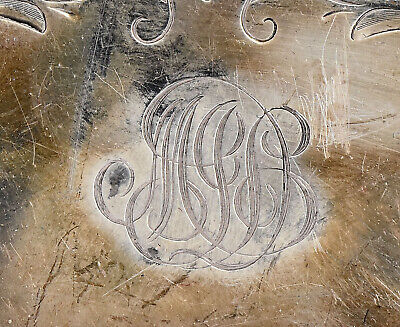 Old Whiting Sterling Silver Plate Reticulated Border w/ Butterfly Insert 5