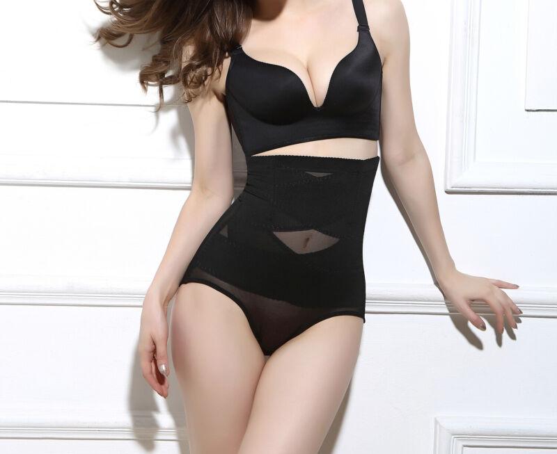 Women's High Waist Shapewear Body Shaper Firm Control Panties Slimming Knickers 9