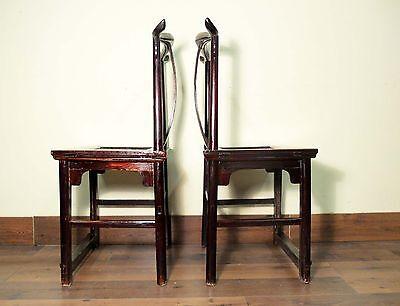 Antique Chinese High Back Chairs (Pair) (5427), Circa 1800-1849 12