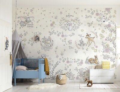 BABY SCHLAFZIMMER TAPETE Wandkunst Bambi Dalmatiner Disney ...
