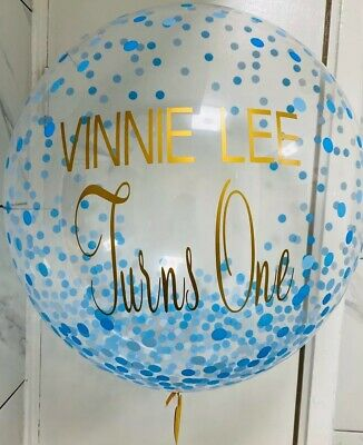 christening party Personalised balloon transfer sticker for balloons birthdays