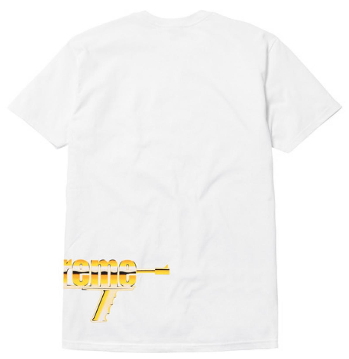 b2912f325ccb Supreme SS17 Automatic Tee Gun Box Logo T-Shirt MADONNA MONA LISA ROCKS  LIQUID S 4 4 of 12 ...