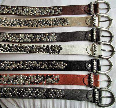 Elegante 2 Fori Borchie Cintura per donna o uomo Larghezza ca 3,6 cm NERO