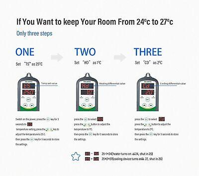 Inkbird ITC-308 WIFI Temp Controller Thermostat 2 Dual Relays 2400W AU Plug Heat 10