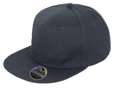 Snapback Baseball Cap Plain Classic Retro Hip Hop Adjustable Flat Peak Hat 2