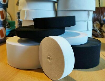 4 8 10 15 20 35 40 60mm Flat Black Woven Elastic Tape Stretchy Band Made Europe 2
