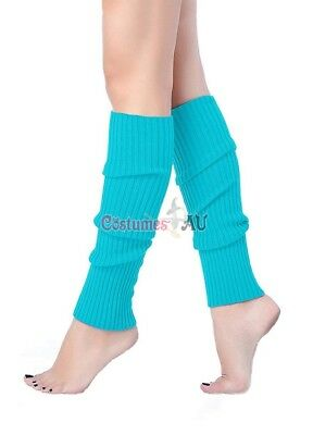 Ladies Legwarmers Gloves leg warmers Knitted Neon Dance 80s Party Costume 1980s 10