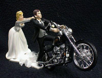 harley davidson wedding cake toppers canada motorcycle wedding cake topper w black harley davidson 15078