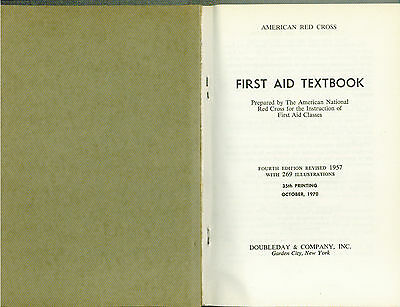 First Aid Textbook, Fourth Edition by The American Red Cross 2