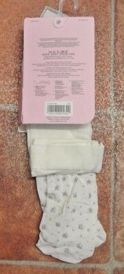 New Mothercare  Party/occasion tights white/silver 4-5 years 3