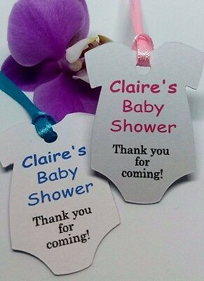 1 Of 4 Personalised Baby Shower Christening Birthday Thank You Tags