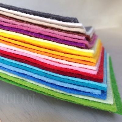 "Wool Mix Craft Felt : 9"" x 9"" (22.5cm x 22.5cm) Square - choice of colours 3"