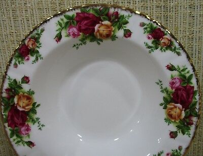 2X Royal Albert Old Country Rose Set 2 Rim Soup Bowls Cereal Bowls Never Use 9