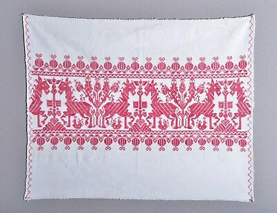 ANTIQUE 19th CENTURY MOROCCAN? GREEK? RUSSIAN? EMBROIDERY TEXTILE HORSES 3