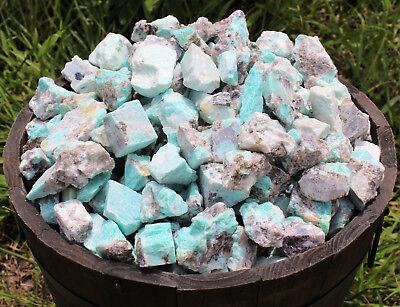 2000 Carat Lot Bulk Natural Rough Amazonite Crystal Healing Raw (400 Grams) 8