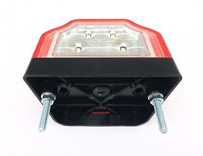 LED Kennzeichenleuchte Anh/änger Nummerschildleuchte Kennzeichenbeleuchtung LKW 12 24 V