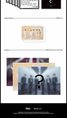 ONEUS [LIGHT US] 1st Mini Album CD+Foto Buch+Foto Karte+Message+Sticker SEALED