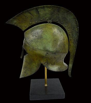 Helmet Solid Bronze Ancient Greek replica artifact 3