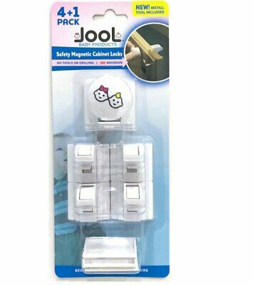 Child Safety Magnetic Cabinet Locks 4+1 Pack - No Tools Needed - Jool Baby 5