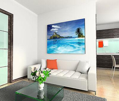 Leinwandbild 120x80cm auf Keilrahmen Meer,Küste,Strand,Ozean,Palmen,türkis,blau 3