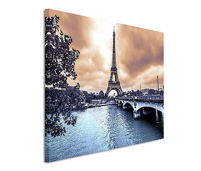 Leinwandbild 120x80cm auf Keilrahmen Brücke,Wasser,nebel,düster