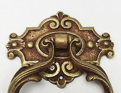 Antique Hardware French Provincial Brass Vintage Drawer Ring Pull Knob Handle 2