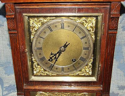 Antique Oak & Brass TING TANG Bracket Mantel Clock WINTERHALDER HOFFMEIER W & H 8