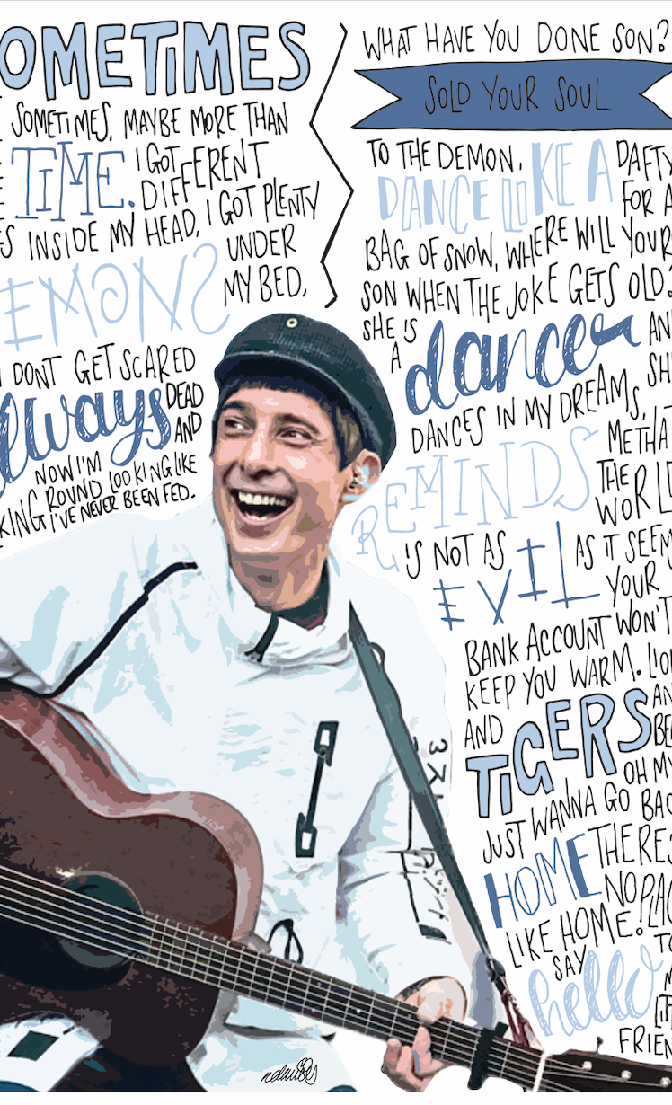 Gerry Cinnamon INSPIRED WALL ART Print / Poster A4 A3 / Erratic Cinematic Lyrics 2