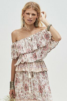 6a7d8da63 ... Spell & The Gypsy Free People Zahara Rosewater Pink Floral Midi Skirt L  NWT 5
