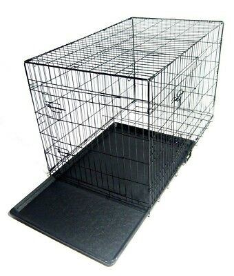 Folding Metal Dog Cage By Mr Barker Puppy Training Crates 5 sizes 24-42 Inch 7