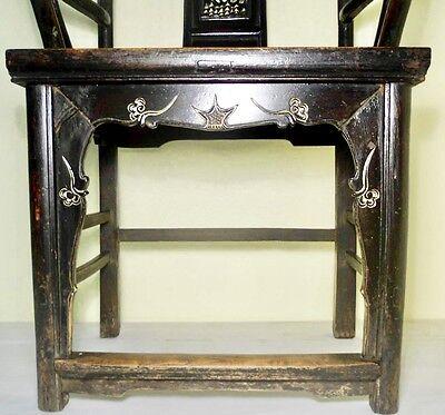 Antique Chinese High Back Arm Chairs (2721)(Pair), Circa 1800-1849 6