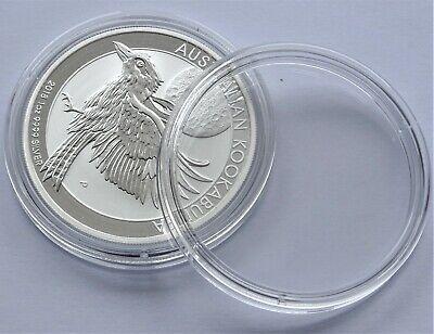 Plastic Round Coin Boxes Capsules Cases 41mm 10,20,50 or 100 capsules 1oz coins 3