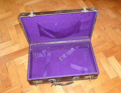 Real Volcano Fibre Suitcase um 1910 Vulcanised Fibre Travel Cases 2