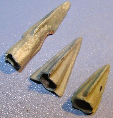 Scythian Vikings arrowheads 7 - 2 nd century BC bronze. RARE. ORIGINAL 3