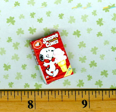 Dollhouse Miniature Vanilla Ice Cream Carton Cone Box /& Cone #K2660 Bright Deli