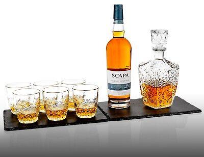 7 Pc Bormioli Rocco Whisky Decanter & Whiskey Tumblers Wine Glasses Gift Box Set 2